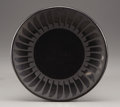American Indian Art:Pottery, A SAN ILDEFONSO BLACKWARE PLATE. Maria and Santana Martinez. c.1950. ...