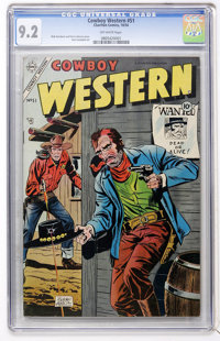 Cowboy Western #51 (Charlton, 1954) CGC NM- 9.2 Off-white pages