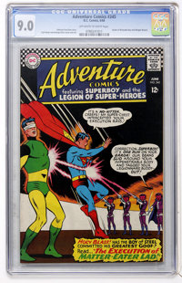 Adventure Comics #345 (DC, 1966) CGC VF/NM 9.0 Off-white to white pages