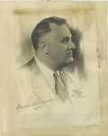 Autographs:U.S. Presidents, Franklin D. Roosevelt: Lithograph Portrait Signed as President....