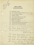 Autographs:U.S. Presidents, Franklin D. Roosevelt: Typed Document With Holographic Annotations by FDR Circa 1928....