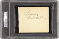 Autographs:Others, 1930's Babe Ruth Signed Album Page, PSA NM-MT 8. The essence of thesports collecting hobby is distilled here in the form o...