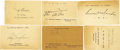 Autographs:Post Cards, 1930's-40's Major League Baseball Players Signed GovernmentPostcards Lot of 249 with Ruth, Wagner, Walter Johnson. Perhaps...
