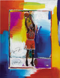Basketball Collectibles:Others, Michael Jordan Signed Peter Max Lithograph. Limited edition(111/423) lithograph proves that Leroy Neiman isn't the only sk...