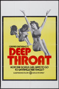 "Movie Posters:Adult, Deep Throat (Aquarius Releasing, 1972). Poster (25"" X 38"").Adult...."