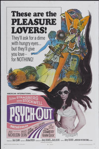 "Psych-Out (American International, 1968). One Sheet (27"" X 41""). Cult Classic"