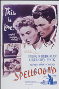"""Movie Posters:Hitchcock, Spellbound (Selznick, R-1960s). One Sheet (27"""" X 41""""). Hitchcock...."""