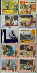 """Movie Posters:Sexploitation, It's Hot in Paradise Lot (Pacemaker, 1962). Lobby Cards (10) (11"""" X14""""). Sexploitation.... (Total: 10 Items)"""
