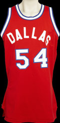 Basketball Collectibles:Uniforms, 1972-73 Mike Maloy Game Worn Dallas Chaparrals Jersey. One can'thelp but love the American Basketball Association, with it...