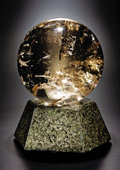 Lapidary Art:Spheres, CITRINE SPHERE WITH GRANITE LIGHT BASE. ... (Total: 2 Items)