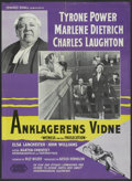 "Movie Posters:Mystery, Witness for the Prosecution (United Artists, 1958). Danish Poster(24.25"" X 33.25""). Mystery...."