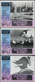 "Movie Posters:Animated, Fantastic Planet (New World, 1973). Australian Lobby Cards (3) (11"" X 14""). Animated.... (Total: 3 Items)"