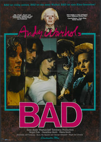 "Andy Warhol's Bad (New World, 1977). German A1 (23.25"" X 33""). Comedy"
