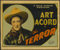 """Movie Posters:Western, The Terror (Universal, 1926). Title Lobby Card (11"""" X 13.25""""). Western...."""