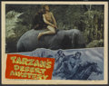 "Movie Posters:Adventure, Tarzan's Desert Mystery (RKO, 1943). Lobby Card (11"" X 14"").Adventure...."