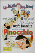 "Movie Posters:Animated, Pinocchio (Buena Vista, R-1971). One Sheet (27"" X 41""). Animated...."