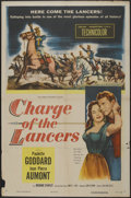 """Movie Posters:Action, Charge of the Lancers (Columbia, 1954). One Sheet (27"""" X 41"""").Action...."""
