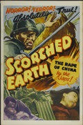 "Movie Posters:War, Scorched Earth (Lamont Pictures, 1942). One Sheet (27"" X 41"").War...."