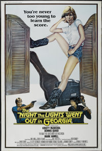 """The Night the Lights Went Out in Georgia (Avco Embassy, 1981). Poster (40"""" X 60""""). Drama"""