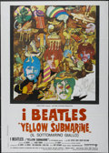 "Movie Posters:Animated, Yellow Submarine (United Artists, 1968). Italian 2 - Folio (39"" X55""). Animated...."