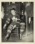 Hockey Collectibles:Photos, 1945-54 Quaker Oats Max Bentley #7B Home Dressing Room Photograph.Part of a promotion that Quaker Oats ran from 1945-54, t...