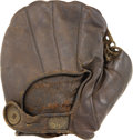 Baseball Collectibles:Others, 1890's Reach Button-Back Glove. Fine early specimen was state ofthe art during the era of King Kelly and Cap Anson despite...