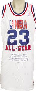 Basketball Collectibles:Others, 1988 Michael Jordan Signed UDA Jersey. Limited edition (2/88)throwback jersey by Mitchell & Ness recalls the firstAll-Sta...