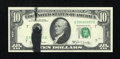 Error Notes:Ink Smears, Fr. 2020-G $10 1969B Federal Reserve Note. About Uncirculated.. ...