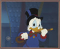 "animation art:Production Drawing, ""Duck Tales"" Scrooge McDuck Animation Production Cel withBackground Original Art (Disney, 1987). ..."