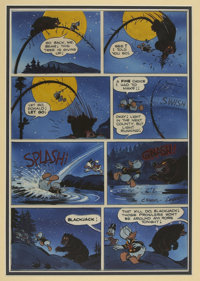 Peter Ledger - Carl Barks' Uncle Scrooge: His Life and Times, page 46 and 47 Hand-Colored Blueline Original Art (Celesti...