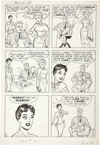 Bill Woggon - Pep Comics #140, Katy Keene page 2 Original Art (Archie, 1960)