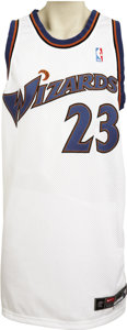 Basketball Collectibles:Uniforms, 2002-03 Michael Jordan Game Worn Jersey. Intense rarity, ironcladprovenance and a spectacular late-career performance by t...