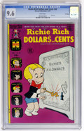 Books:Miscellaneous, Richie Rich Dollars and Cents #58 File Copy (Harvey, 1973) CGC NM+9.6 White pages....
