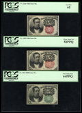 Fractional Currency:Fifth Issue, Complete Fifth Issue Set... Plus Two.... (Total: 8 notes)