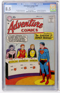 Silver Age (1956-1969):Superhero, Adventure Comics #247 (DC, 1958) CGC VF+ 8.5 Off-white to whitepages....