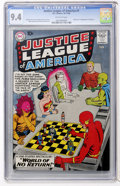 Silver Age (1956-1969):Superhero, Justice League of America #1 (DC, 1960) CGC NM 9.4 Off-whitepages....