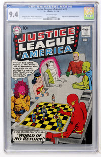 Justice League of America #1 (DC, 1960) CGC NM 9.4 Off-white pages