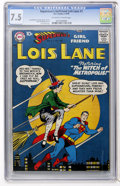 Silver Age (1956-1969):Superhero, Superman's Girl Friend Lois Lane #1 (DC, 1958) CGC VF- 7.5Off-white to white pages....