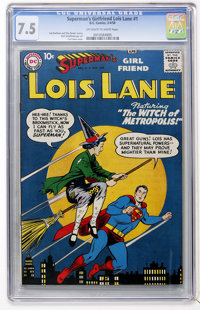 Superman's Girl Friend Lois Lane #1 (DC, 1958) CGC VF- 7.5 Off-white to white pages