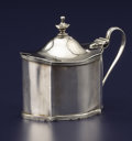 Silver Holloware, British:Holloware, A GEORGE III SILVER MUSTARD POT. Charles Chesterman, London,England, 1796-1797. Marks: (lion passant), (leopard's head crow...