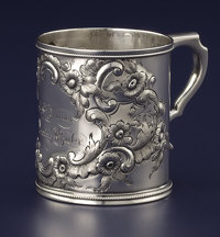 AN AMERICAN COIN SILVER CUP William Gale & Son, New York, New York, 1851 Marks: W.G. & S, (G&S
