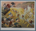 "Original Comic Art:Miscellaneous, Carl Barks - ""Dam Disaster at Money Lake,"" Regular EditionLithograph, #24/345 (Another Rainbow, 1986).... (Total: 2 Items)"