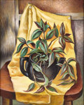 Texas:Early Texas Art - Regionalists, CHARLES TAYLOR BOWLING (American, 1891-1985). Still Life withYellow Drape, 1943. Oil on masonite. 20 x 16 inches (50.8 ...