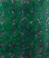 SAM FRANCIS (American, 1923-1994) Green Buddha, 1982 Color lithograph, SF337 59 x 50 inches (149