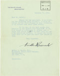 Autographs:U.S. Presidents, Franklin D. Roosevelt: Typed Letter Signed as President withHolographic Correction....
