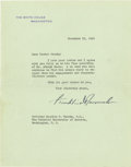 Autographs:U.S. Presidents, Franklin D. Roosevelt: Typed Letter Signed as President.... (Total:2 Items)