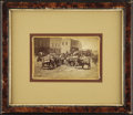 Western Expansion:Goldrush, Framed Photograph of Loaded Mining Pack Mules ca 1880s - ...