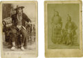 Western Expansion:Indian Artifacts, Two Cabinet Card Photographs Nez Perce/Umatilla Indians ca 1880's - ... (Total: 2 Items)