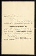 Western Expansion:Cowboy, Sheriff's Invitation to a Hanging, Fairfield, California, 1887....(Total: 2 Items)