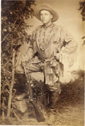 Western Expansion:Cowboy, Cabinet Card Photograph of Great Armed Scout from Colorado, ca.1880s....